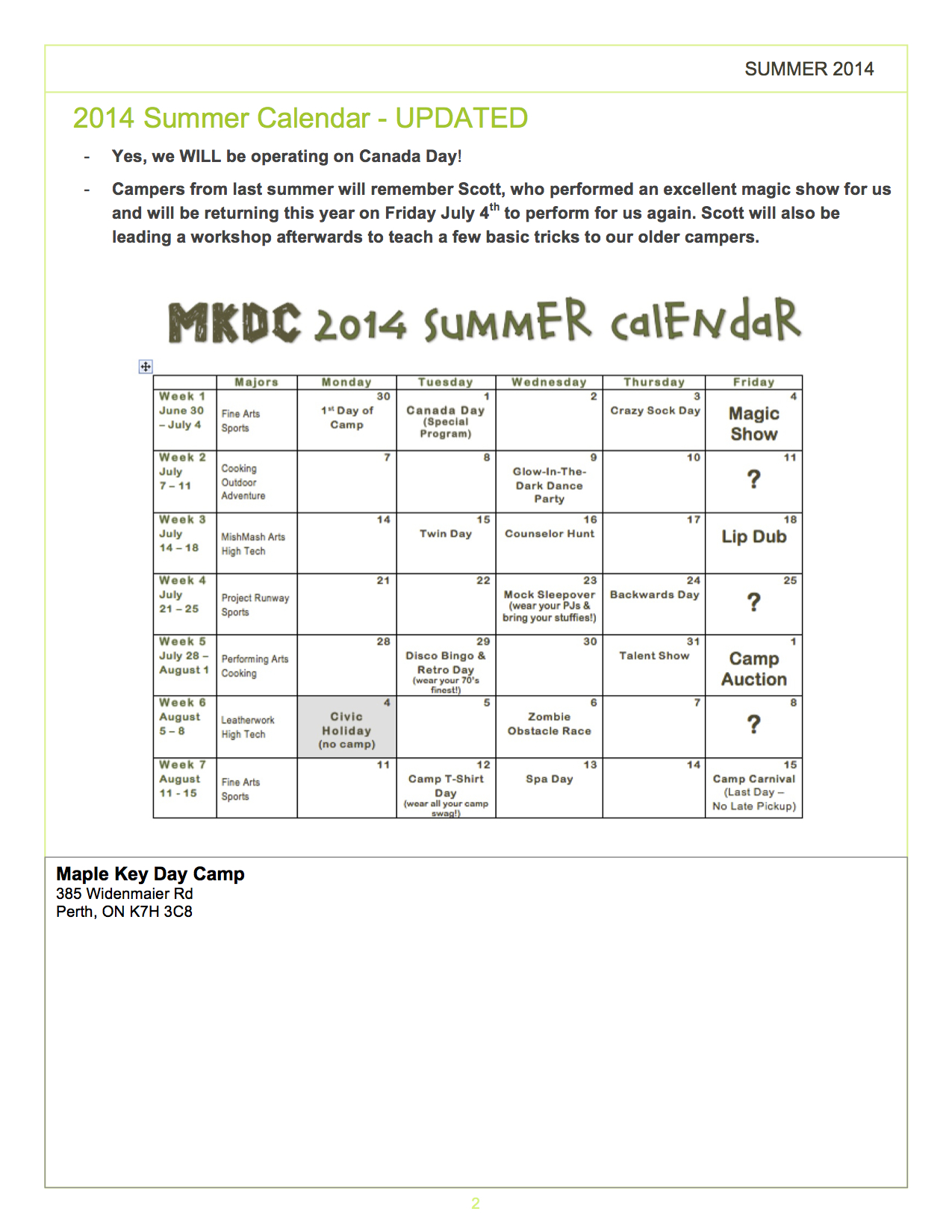 Blog - Page 10 of 28 - Maple Key Day Camp
